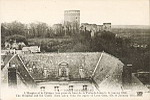 8 - COUCY-LE-Château. L'Hospice  et le Château (vue prise du haut de la Porte de Laon le 14 janvier 1916). The Hospital and the Castle (view taken from the upper of Laon Gate, the 14 January 1916). ND Phot