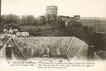 20 - COUCY-LE-Château. L'Hospice  et le Château (vue prise du haut de la Porte de Laon le 14 janvier 1916). The Hospital and the Castle (view taken from the upper of Laon Gate, the 14 January 1916